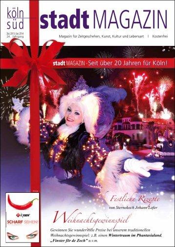 stadtMAGAZIN köln-süd | Ausgabe Dezember 2013/Januar 2014