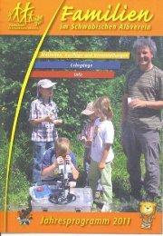 Familien-Programme 2011 im Schwäbischen Albverein.