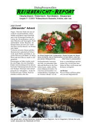 Weihnachtszeit: Romantik und Reisen