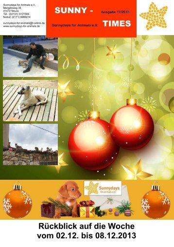 SUNNY - TIMES Rückblick auf die Woche vom 02.12. bis 08.12.2013