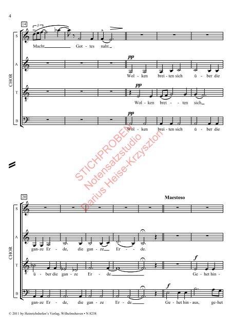 Max Baumann: Ankunft des Herrn op. 66 für gemischte Stimmen und Knabenchor