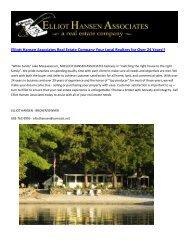 Elliott Hansen Associates Real Estate Company Your Local Realtors for Over 24 Years.pdf