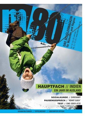 m80 - Das Schuelermagazin fuer Muenchen und Region/Winterausgabe