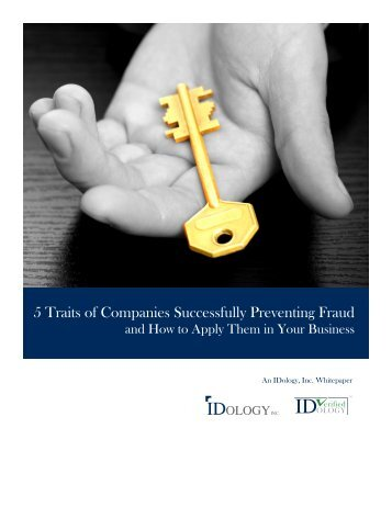 5 Traits of Companies Successfully Preventing Fraud and How to Apply Them in Your Business, Whitepaper