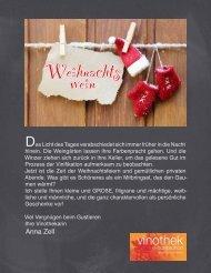 Weihnachtswein 2013 Vinothek Horitschon