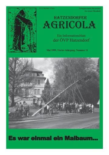 Hatzendorfer Agricola Ausgabe Nr. 11
