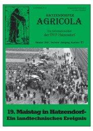 Hatzendorfer Agricola Ausgabe Nr. 21