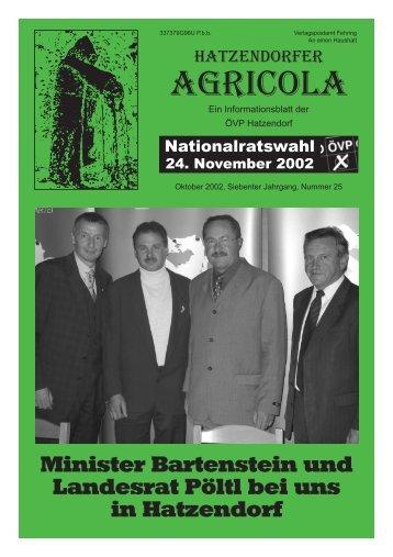 Hatzendorfer Agricola Ausgabe Nr. 25