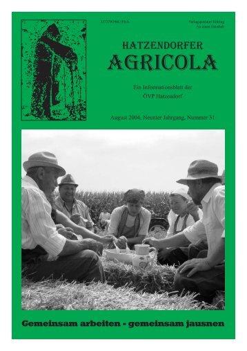 Hatzendorfer Agricola Ausgabe Nr. 31