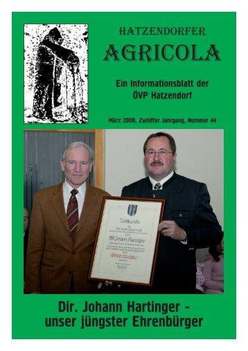 Hatzendorfer Agricola Ausgabe Nr. 44