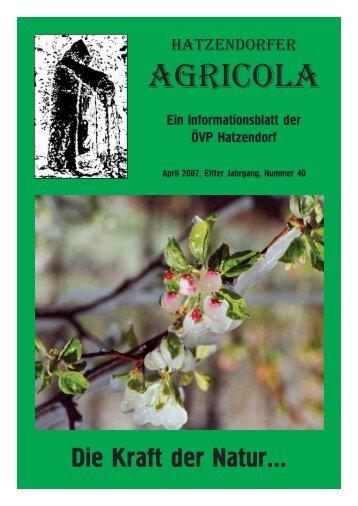 Hatzendorfer Agricola Ausgabe Nr. 40