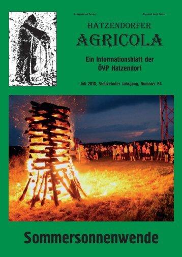 Hatzendorfer Agricola Ausgabe Nr. 64