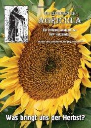 Hatzendorfer Agricola Ausgabe Nr. 65