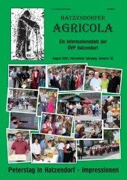 Hatzendorfer Agricola Ausgabe Nr. 52