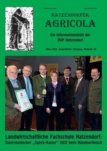 Hatzendorfer Agricola Ausgabe Nr. 59
