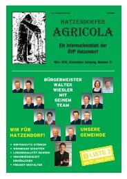 Hatzendorfer Agricola Ausgabe Nr. 51