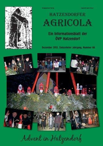 Hatzendorfer Agricola Ausgabe Nr. 66
