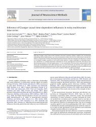 Inference of Granger causal time-dependent influences in noisy ...