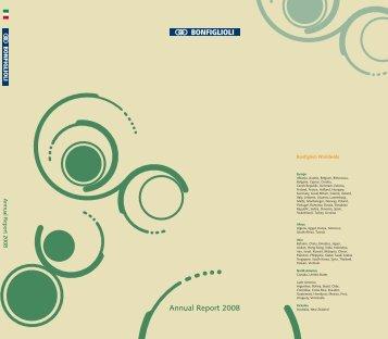 Annual Report 2008 ita - Bonfiglioli
