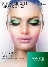 Servicemappe TRENDS OF BEAUTY Graz 2014