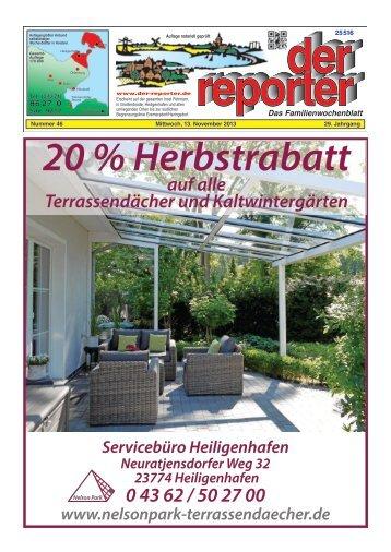 der reporter - Das Familienwochenblatt für Fehmarn 2013 KW 46