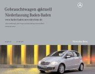 Gebrauchtwagen @ktuell - Mercedes-Benz Niederlassung Baden ...