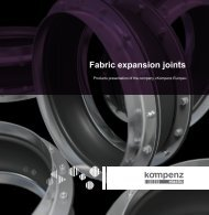 Fabric expansion joints Kompenz