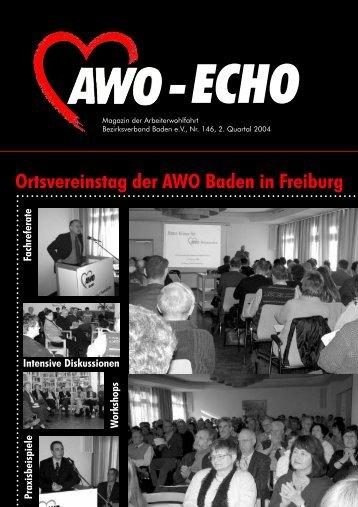 2. Quartal 2004   Awo-Echo Ausgabe 146 - AWO Baden