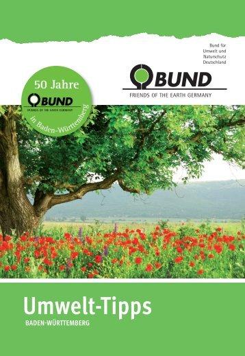 BUND Umwelt-Tipps Esslingen/Göppingen 2014
