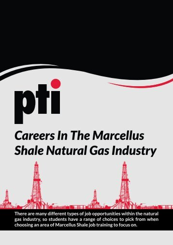 White Paper: Careers in the Marcellus Shale Natural Gas Industry