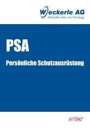 PSA - Persönlicher Arbeittschutz