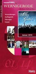 Wernigerode Insider Tipps Januar 2014