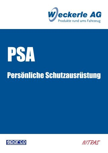PSA - Persönlicher Arbeitsschutz