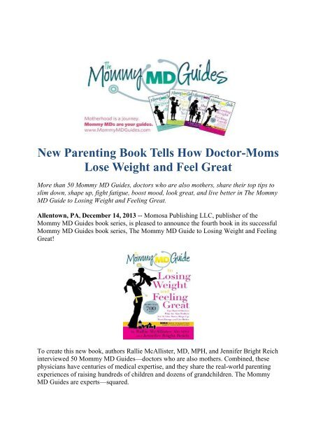 New Parenting Book Tells How Doctor-Moms Lose Weight and