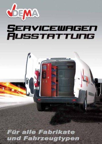 Servicewagen Ausstattungen von Dema - erhätlich bei STABILO und Detec
