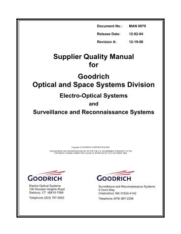 supplier quality manual template - methode visual quality standard methode supplier page