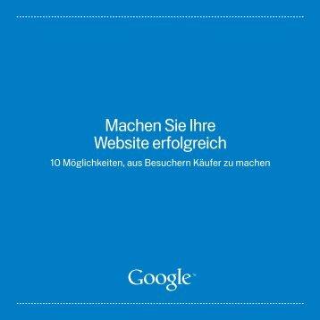 Machen Sie Ihre Website erfolgreich - Google
