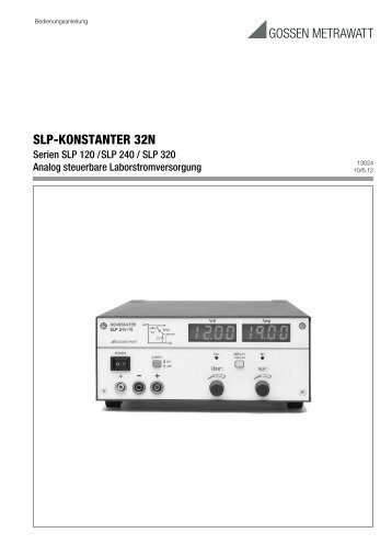 pdf 594 kB - Gossen-Metrawatt