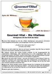 Gourmet Vital – Bio Vitaltees