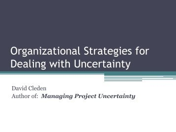 Organizational Strategies for Dealing with Uncertainty