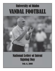 VANDAL FOOTBALL - University of Idaho Athletics