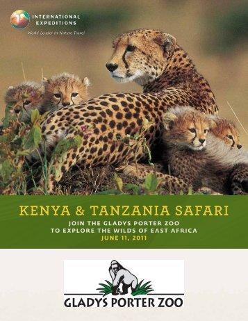 Kenya Tanzania Trip Packet - Gladys Porter Zoo