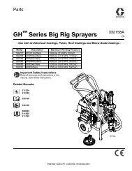 332158A - GH Series Big Rig Sprayers, Parts (English) - Graco Inc.