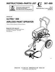 307889K ULTRA 500 AIRLESS PAINT SPRAYER - Graco Inc.
