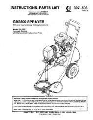 307893A GM3500 SPRAYER - Graco Inc.
