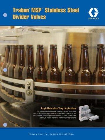 Trabon® MSP™ Stainless Steel Divider Valves - Graco Inc.