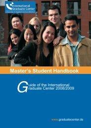 Master's Student Handbook - International Graduate Center