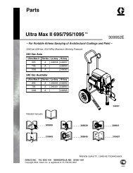 309952E Ultra Max II 695/795/1095 Parts - Graco Inc.