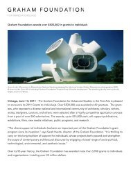 press release (PDF) - Graham Foundation