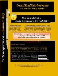 2013 Early Registration - Grambling State University